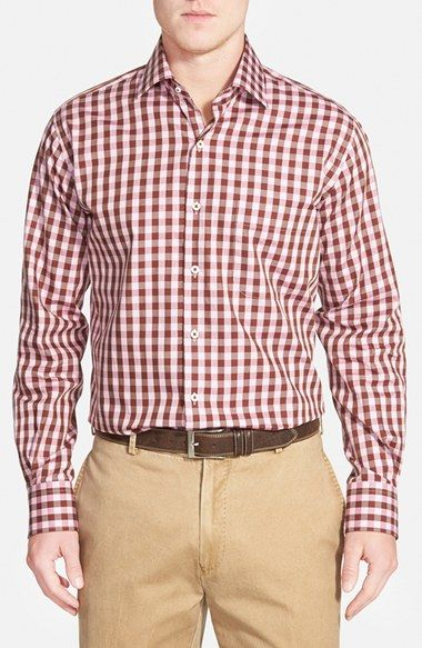 Peter Millar 'Oakachoy' Regular Fit Gingham Sport Shirt available at #Nordstrom