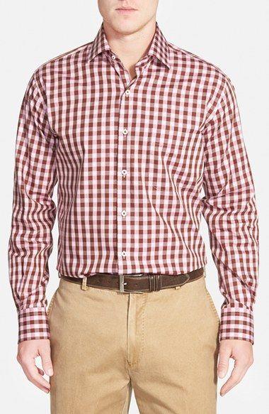 Peter Millar 'Oakachoy' Regular Fit Gingham Sport Shirt available at #Nordstrom