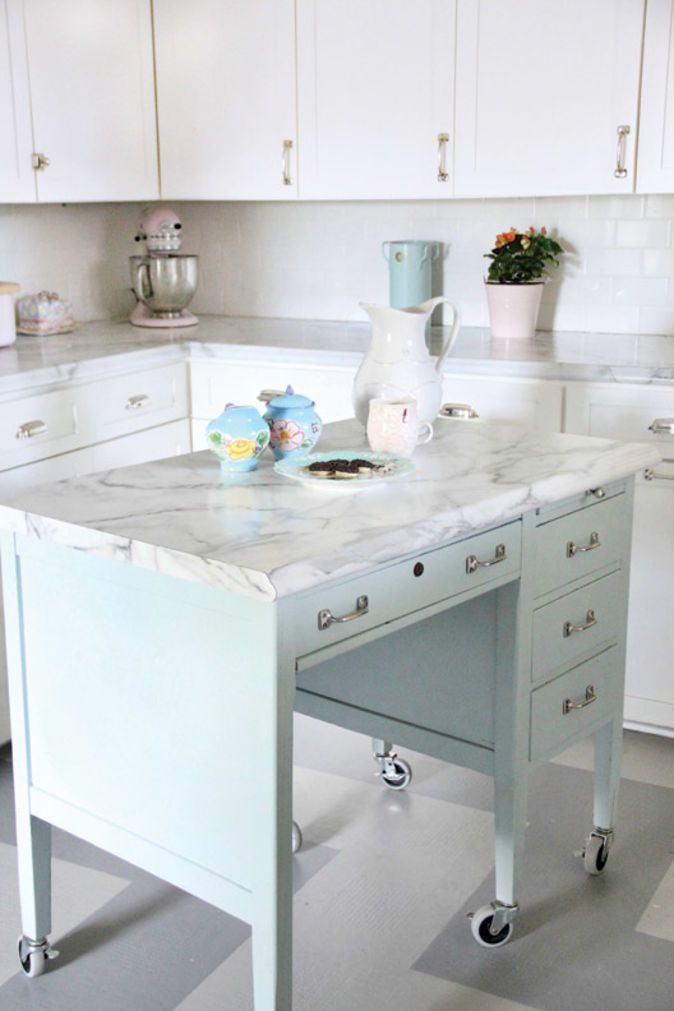 turn a desk into a kitchen island old house restoration products