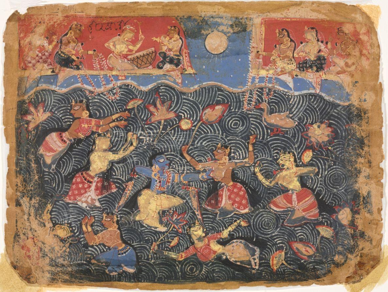Krishna Sporting With Gopis In Jumna River
