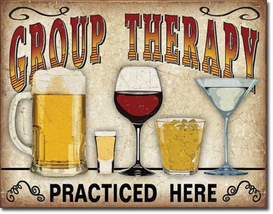Man Cave Group : Group therapy alcohol beer wine funny bar dorm room man cave picture