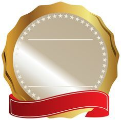 Gold Seal With Red Ribbon Png Clipart Image Ribbon Png Frame Border Design Photo Logo Design