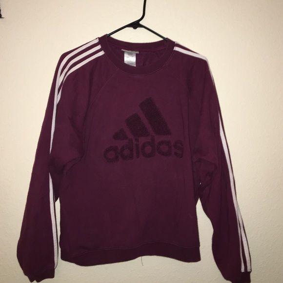 Maroon Adidas Sweatshirt Maroon Varsity Adidas sweater. Vintage. Size M  Adidas Sweaters Crew   Scoop Necks 6a17011e03f0