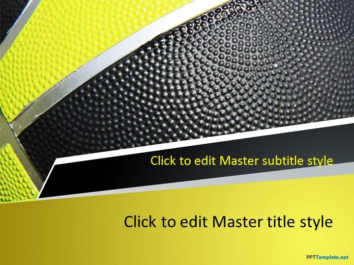 Free Basketball Play PPT Template Ideas for the House - basketball powerpoint template