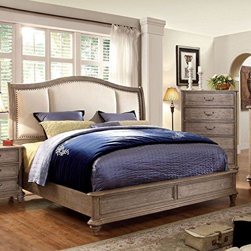 Norco II Transitional Style Rustic Weathered Oak Finish Cal King