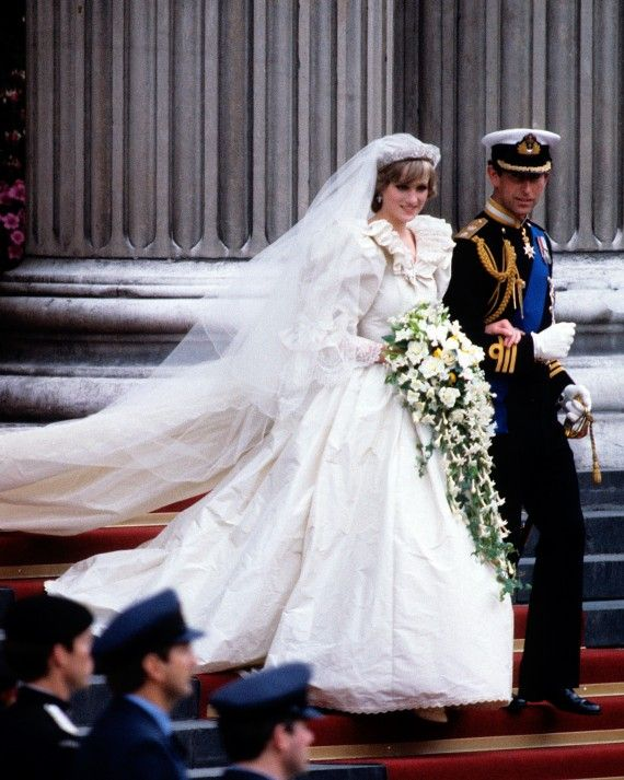 ff259d81391 While the poufy sleeves and ruffled neckline of Princess Diana s taffeta wedding  dress might seem a bit too  80s for today