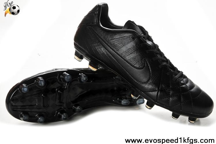 Best Gift Nike Tiempo Legend Iv Elite Fg All Black Latest Now Black Football Boots Cheap Soccer Shoes Black Sports Shoes