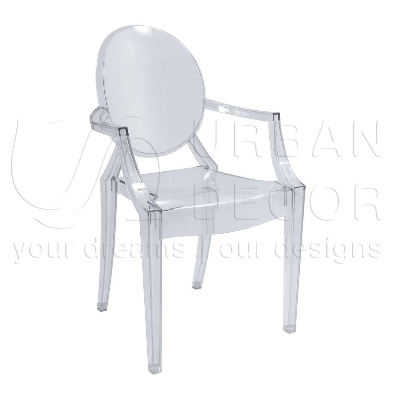ghost clear acrylic chair polycarbonate chairs designer