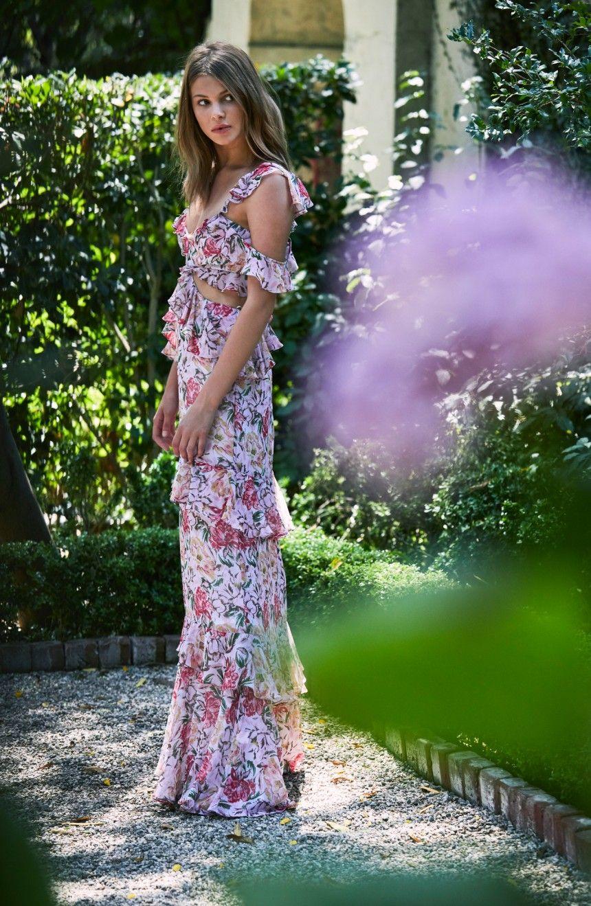 508345dfa7 WAYF Milan Cut Out Ruffle Maxi Dress | Nordstrom | WᏐʂɧ ༻LᏐst ...