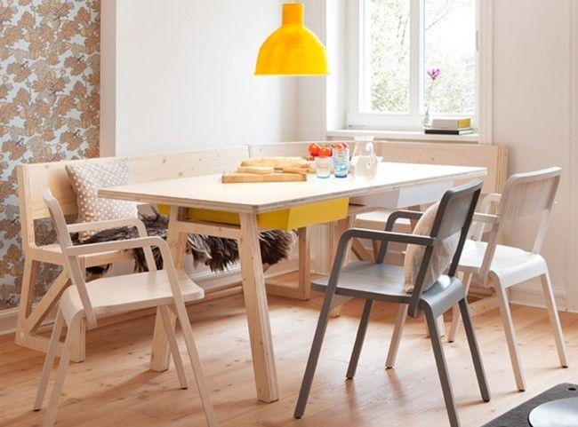 Comedor en madera Casas Pinterest Mantel, Comedores y Madera