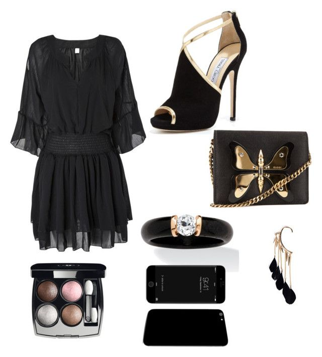 """glamour"" by mgonzalezmoreno on Polyvore featuring moda, Jimmy Choo, Palm Beach Jewelry, Boohoo, Gucci y Chanel"