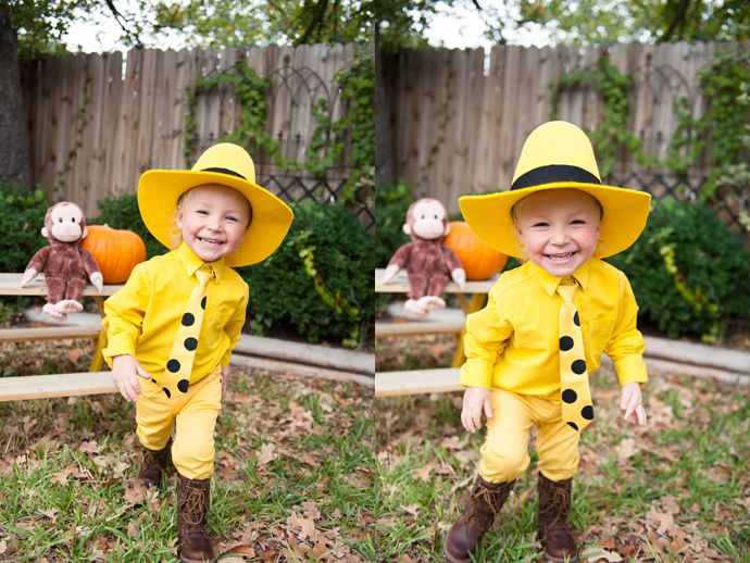 Man In The Yellow Hat Costume Kids