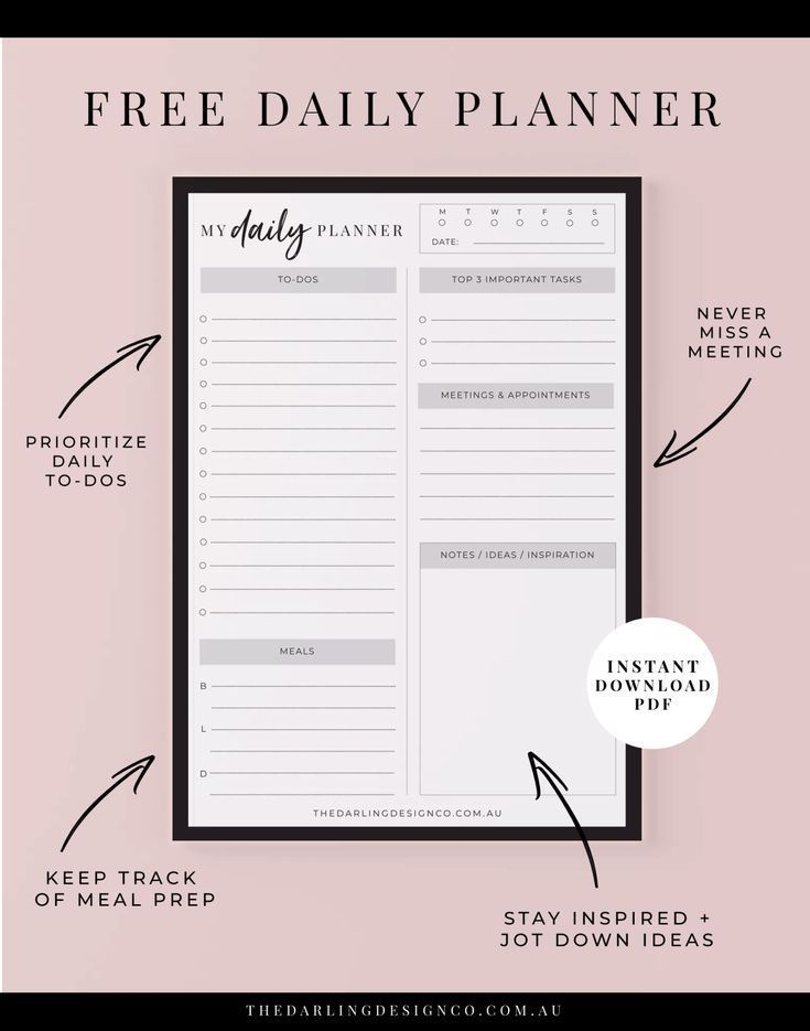 Staying Organised These Holidays + Free Daily Planner Printable
