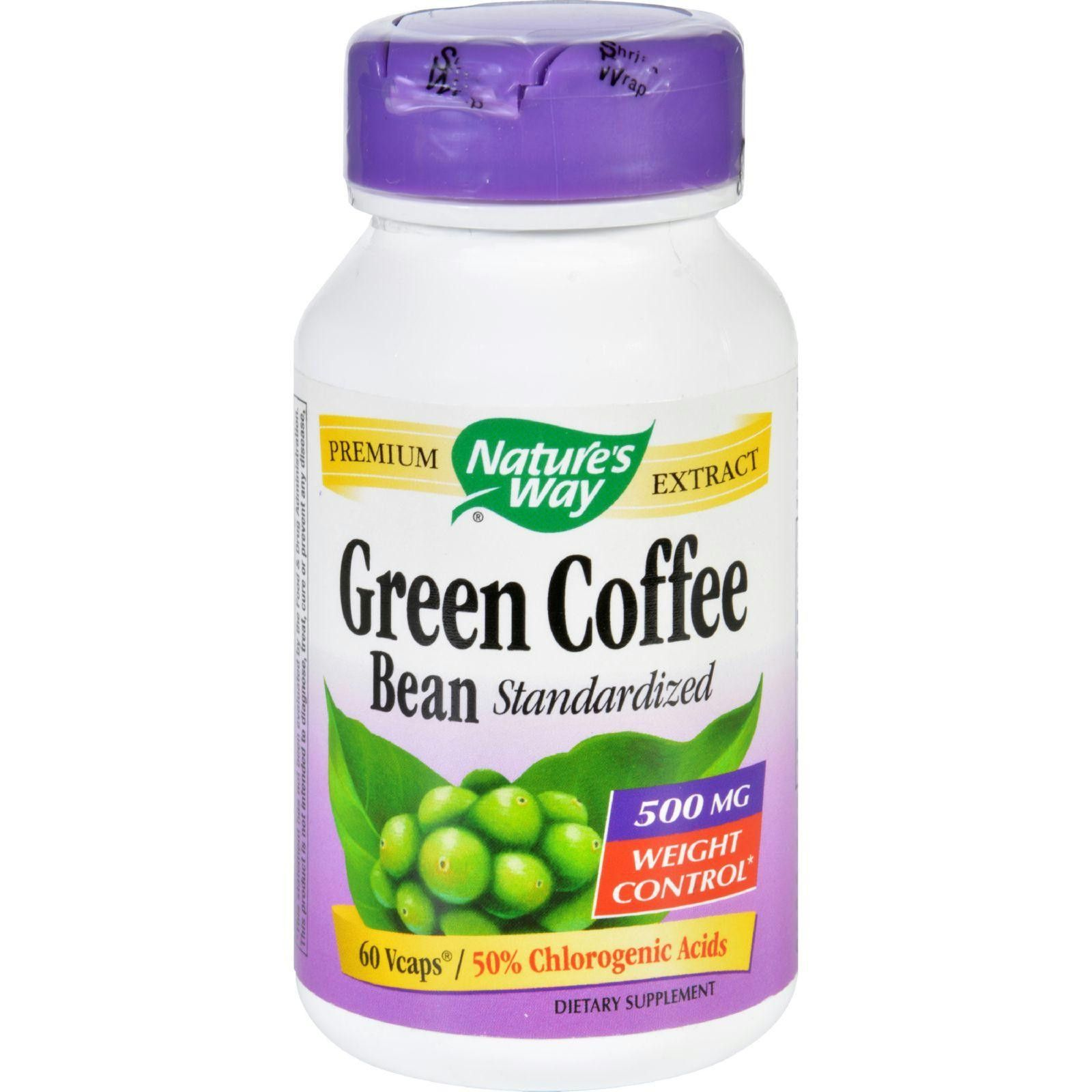 Natures Way Green Coffee Bean 500 mg 60 Vegetarian