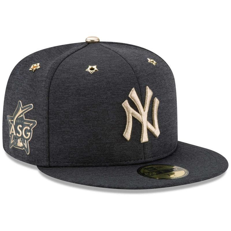 9175d73aeea  Fanatics.com -  New Era New York Yankees New Era 2017 MLB All-Star Game  Side Patch 59FIFTY Fitted Hat - Heathered Navy - AdoreWe.com