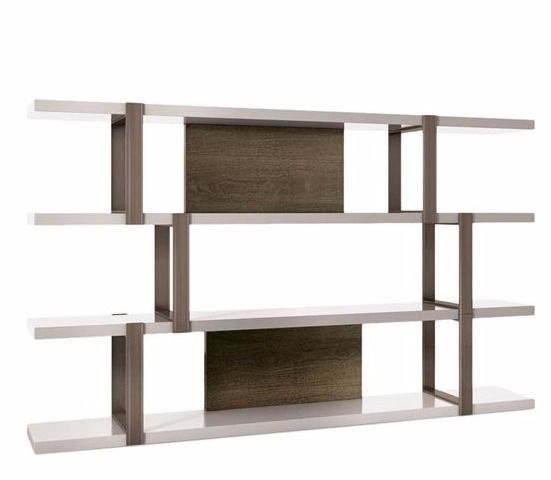 console west storage bookcase elm products rustic industrial modular o