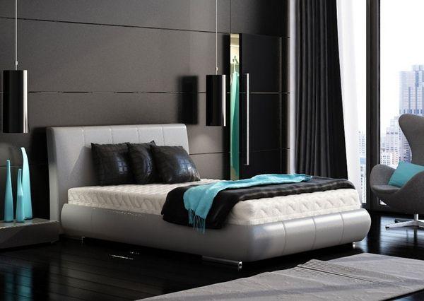 Epingle Par Emilie Froissard Sur Chambre Parentale Chambre A Coucher Couleur Chambre Design Noir Turquoise Chambre