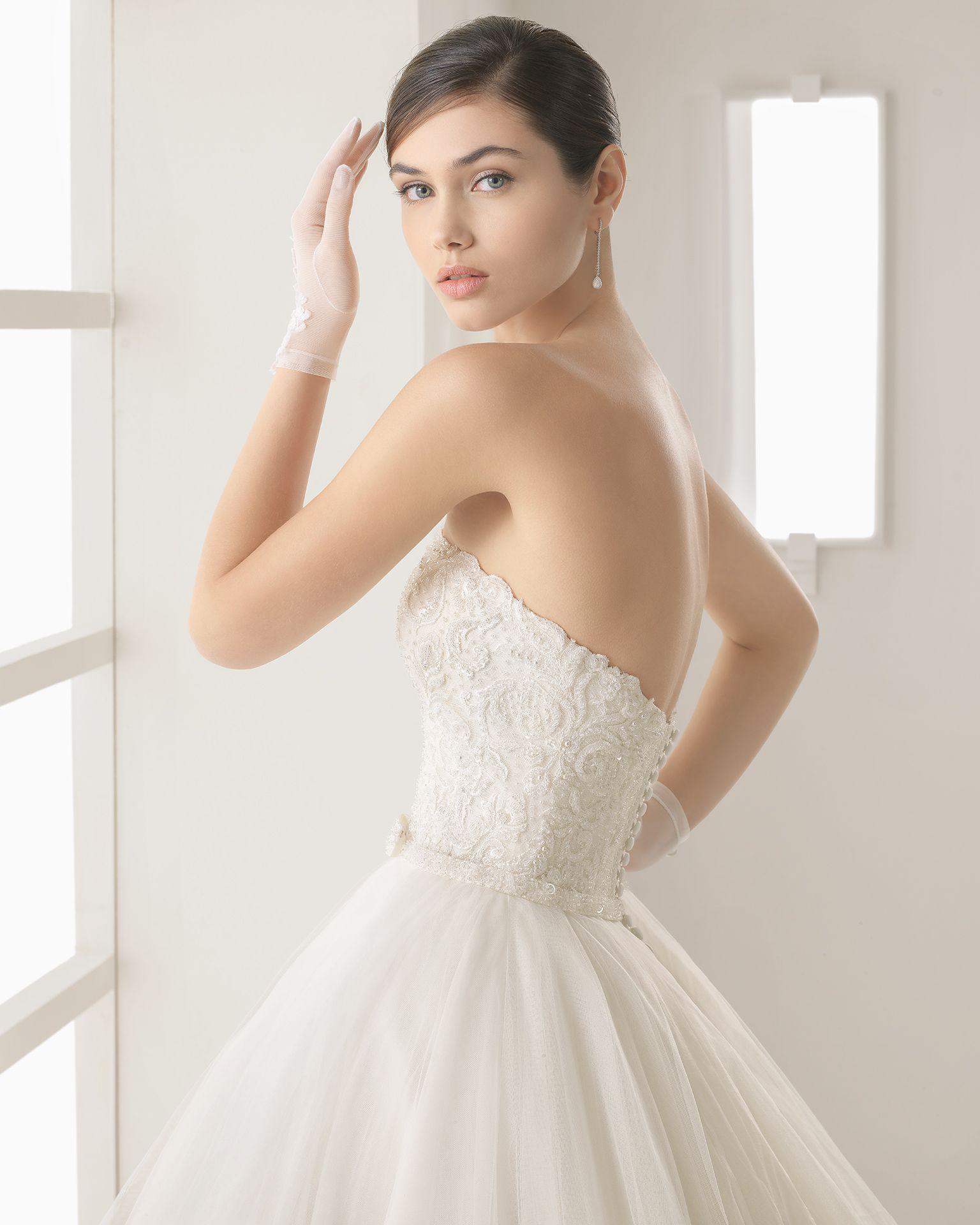 69cf15619c OLSON traje novia con palabra de honor