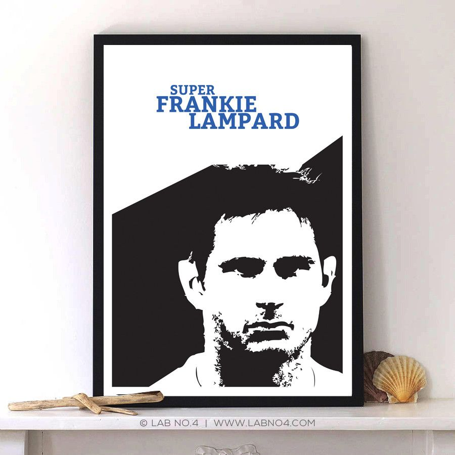 Frank Lampard Minimalist Art poster – Lab No. 4 - The Quotography Department #Sport #Quotes