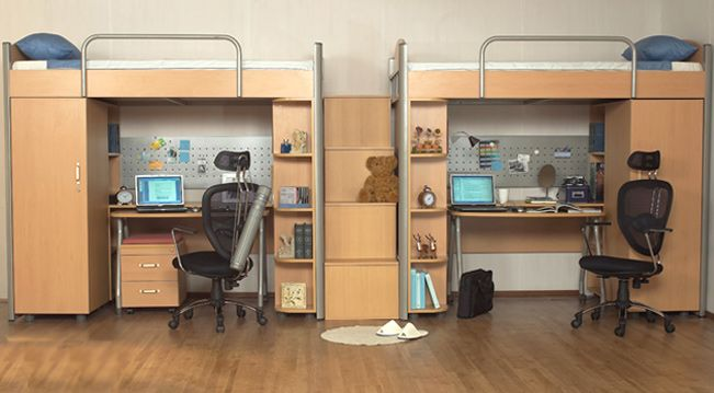 Loft bed collection ii household wants pinterest lofts wall beds and desks - Beds with desks attached ...