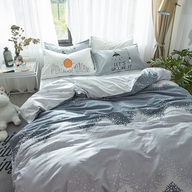 Cotton Bedding Sets Soft Pillow Cover Twin Bedding Cotton Sheet Sets Duvet Cover Queen Bed Sheet Set Nordic Queen Bed Sheets Cotton Bedding Sets Bed Sheet Sets