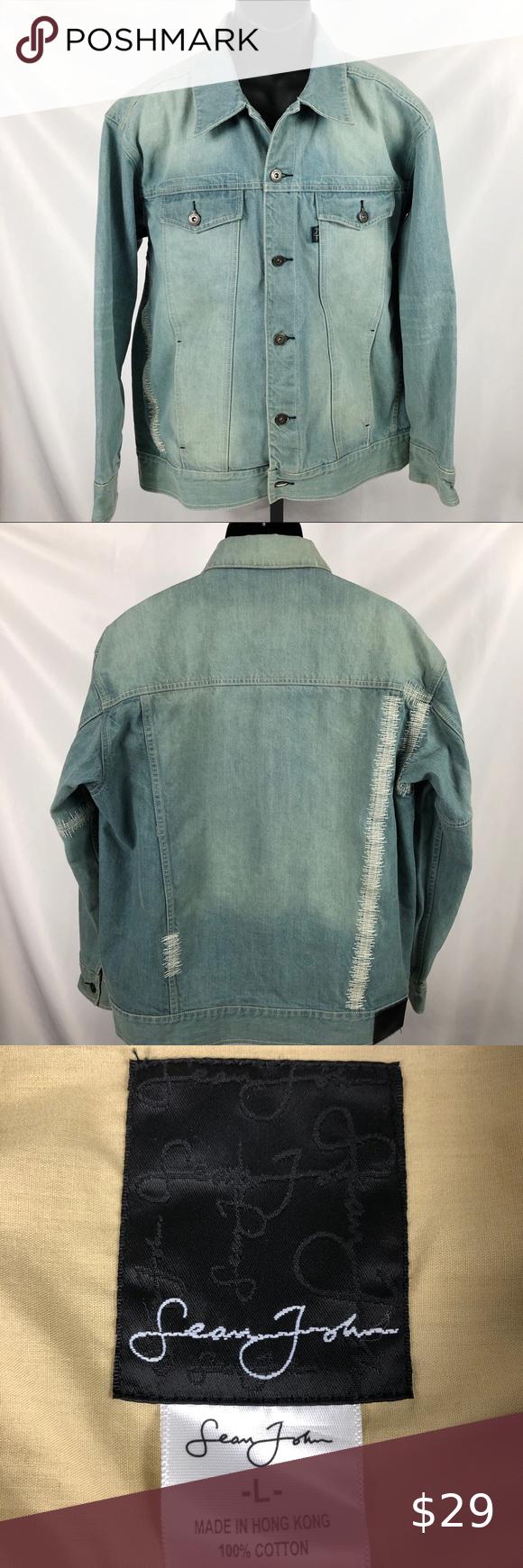 Sean John Jean Jacket Size L Sean John Jeans Jackets Jean Jacket [ 1740 x 580 Pixel ]