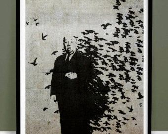 Banksy Hitchcock Birds Poster 18x24 Handmade Giclée Gallery Print The Birds Movie Graffiti Street Art