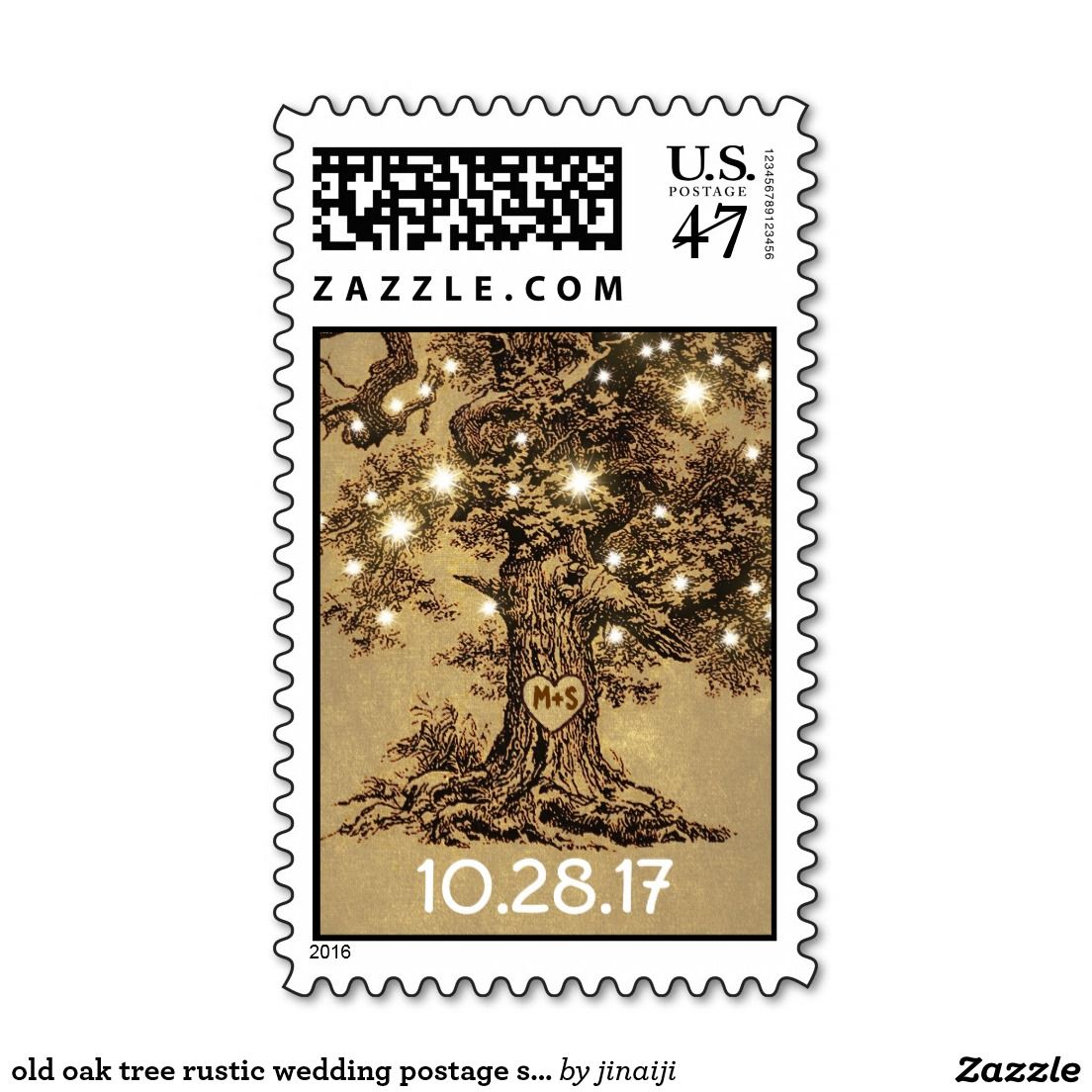 Old Oak Tree Rustic Wedding Postage Stamps Wedding Postage Stamps