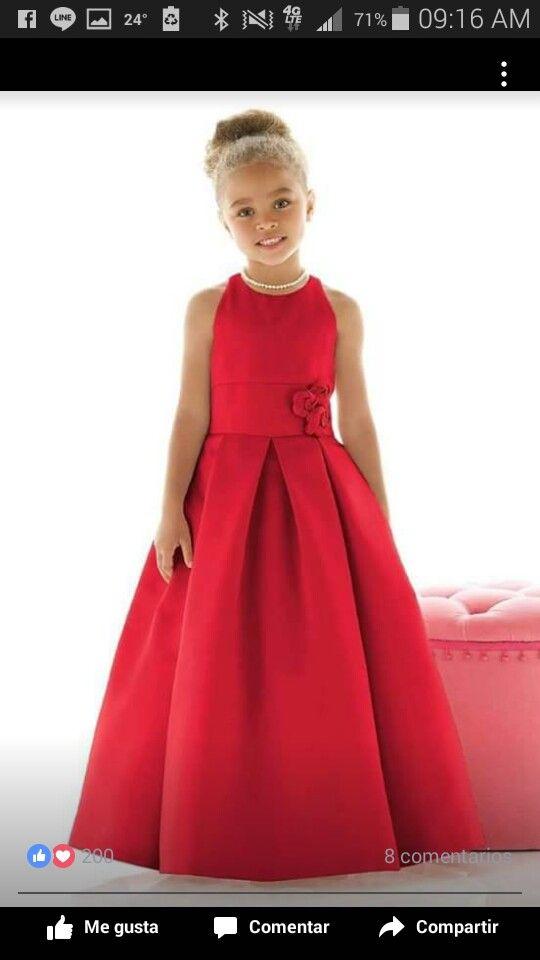 Vestido Rojo Para Niña Vestidos Rojos Para Niñas Vestidos