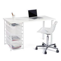 The Container Store White Elfa Component Desk Desk Modular Desk Office Desk