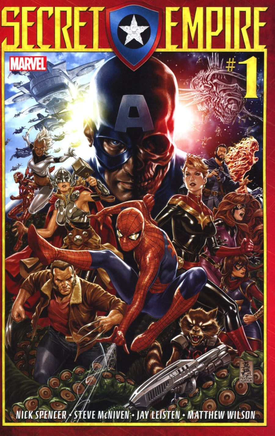 Marvel Comics Secret Empire 1 1st Printing Mark Brooks Cover The Photo S Featured In This Listing Are Stock Images Marvel Comics Covers Marvel Digital Comic