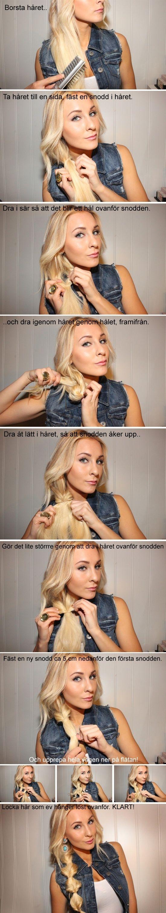 Bohemian braid not in english but i still understand hair