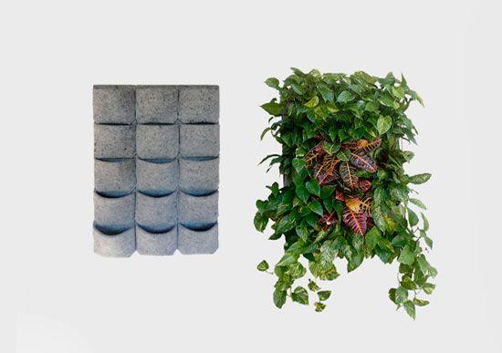 jardineras verticales de fieltro reciclado para huertos urbanos sin espacio - Jardineras Verticales