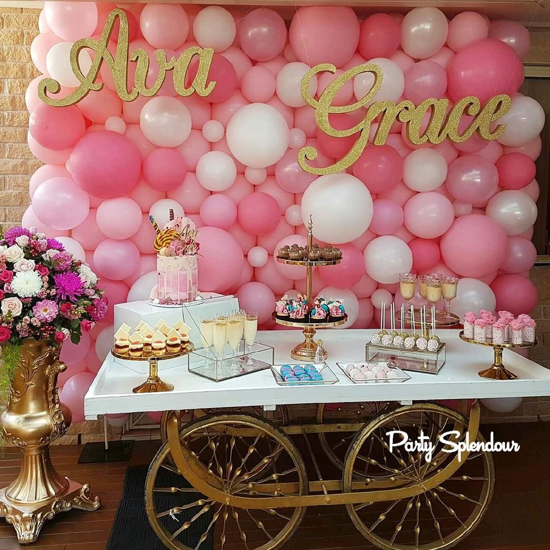 Gorgeous pink balloon wall by party splendour in sydney baby gorgeous pink balloon wall by party splendour in sydney amipublicfo Image collections