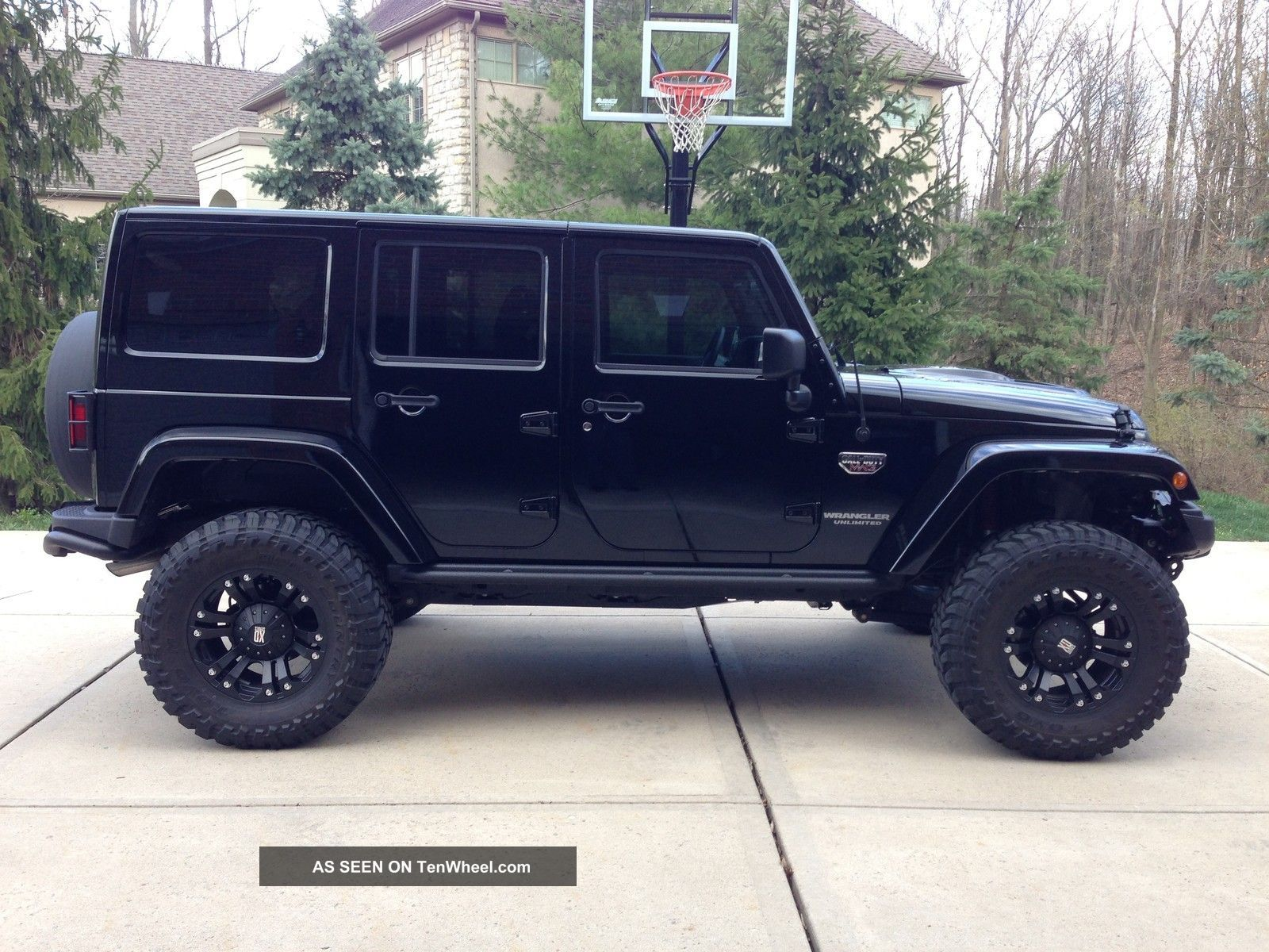 Black Jeep Wrangler 4 Door. dream car 4 door jeep