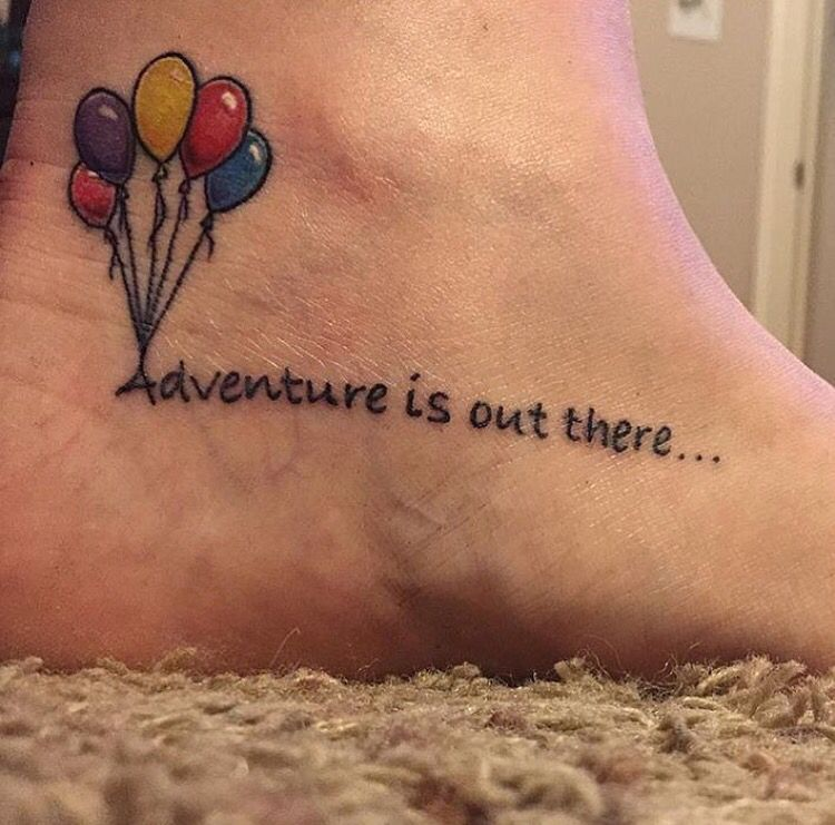 Adventure is out there disney tattoo based on the pixar for Adventure is out there tattoo
