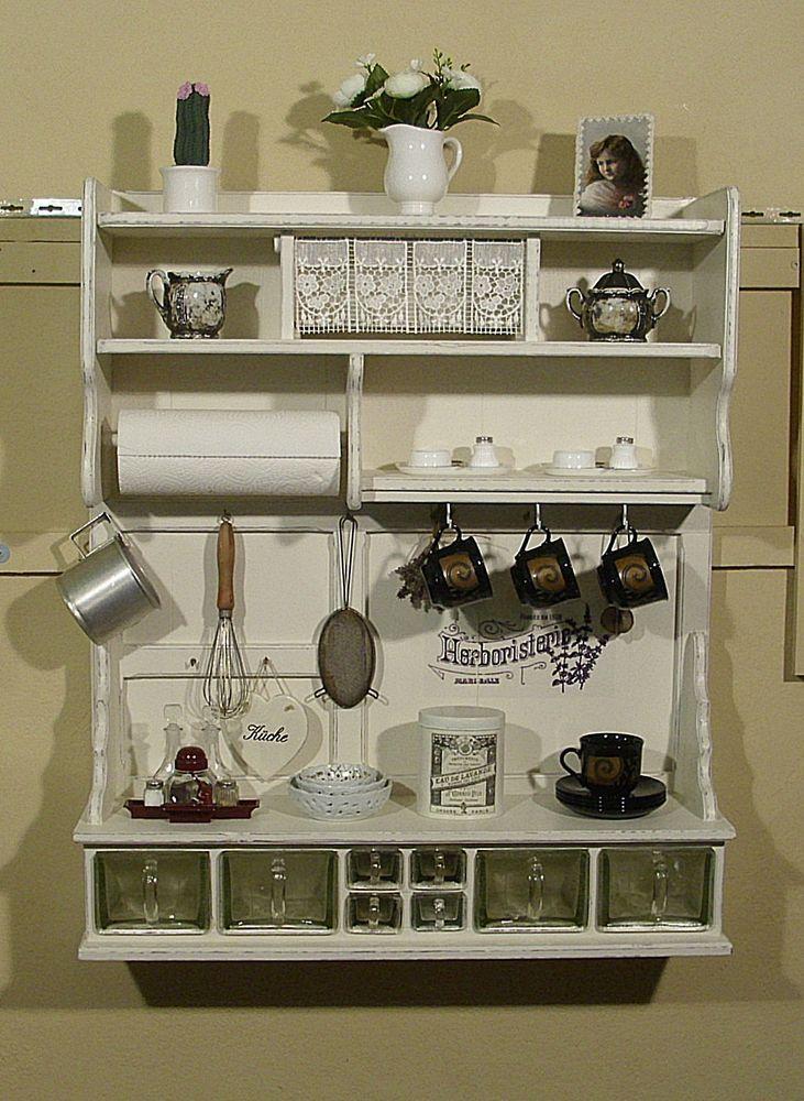 Regal, Wandregal, Küchenregal, Shabby Chic In Möbel