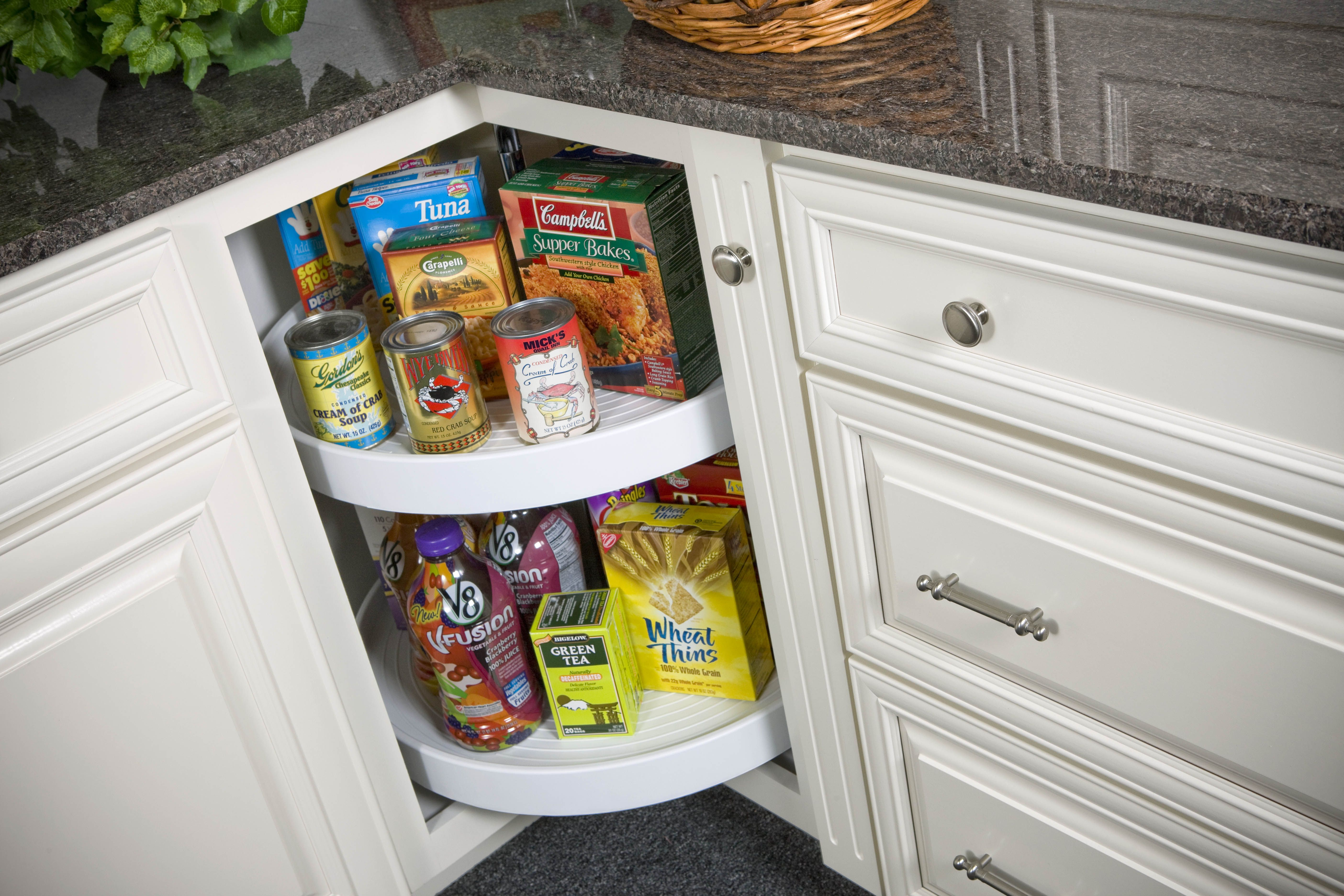 Wolf Classic Cabinets Built In Lazy Susan Saves Space And Time Classic Cabinets Classic Kitchen Cabinets Kitchen Storage Solutions