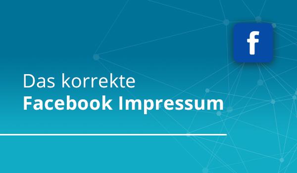 Das korrekte Facebook Impressum Eine Facebook-Unternehmensseite sollte wie bei einer eigenen Website auch ein eigenes Impressum haben. Eine Verlinkung auf die eigene Webseite oder Impressum Seite der Webseite ist nicht ausreichend. http://www.easy-online.at/2016/01/05/314/