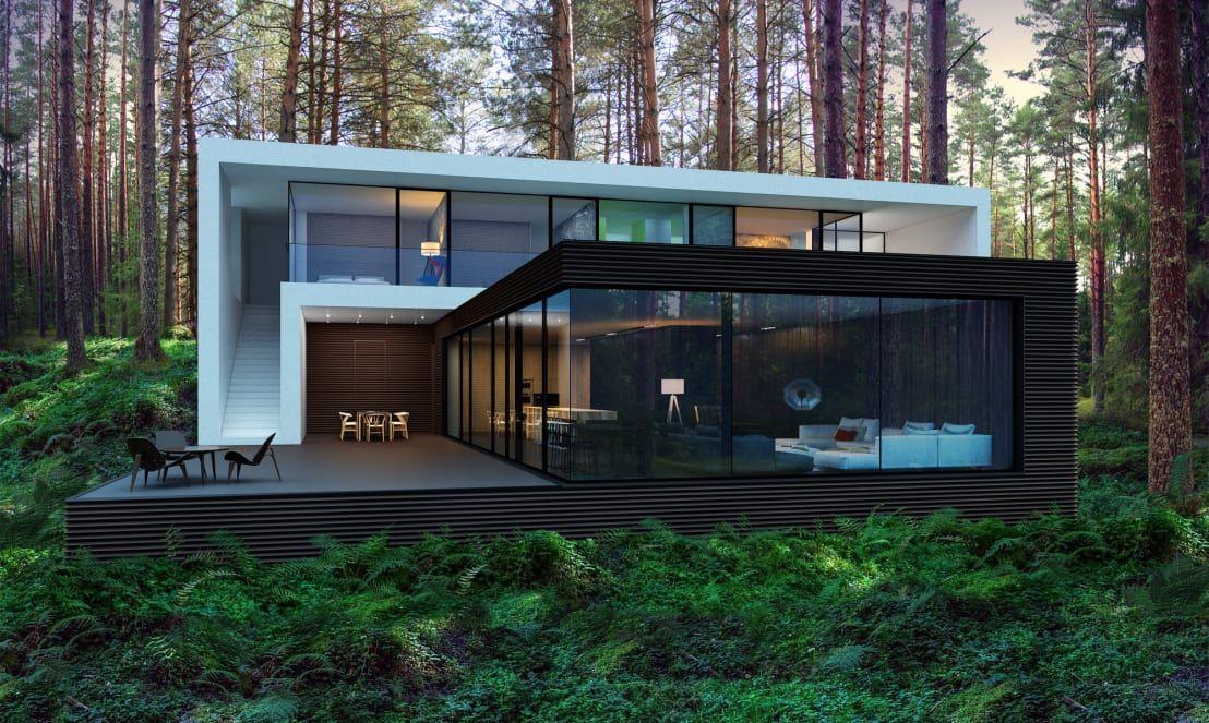 Casa Vacacional En El Bosque Increible Diseno Casas Modernas Casas Arquitectura Casas