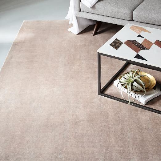 Lucent Rug Dusty Blush West Elm 649 6x9 Living Room Carpet Solid Color Rug Room Carpet
