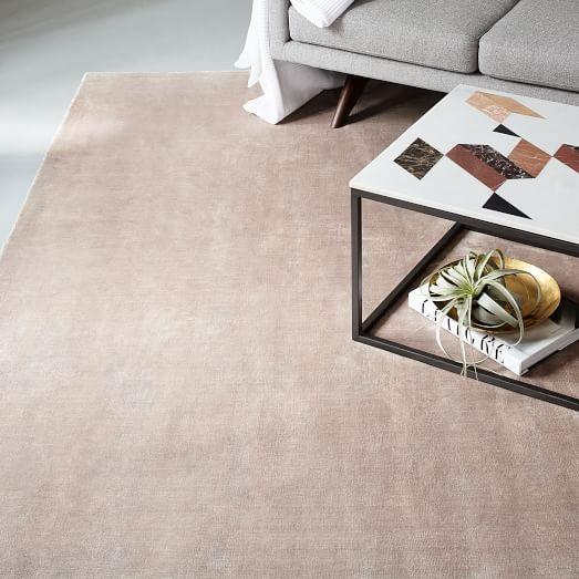 Lucent Rug Dusty Blush West Elm 649 6x9 Living Room Carpet Decor Rugs