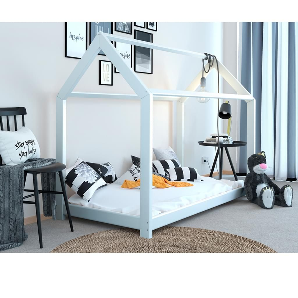 Vitalispa Kinderbett Kinderhaus Weiss 90 X 200 Cm Kinder Bett Holz