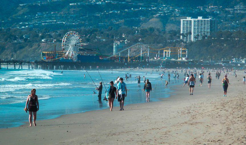 Santa Monica Beach Day