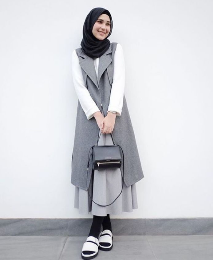 Tampilan Casual Wanita Berhijab Masa Kini Busana Muslim Pinterest Hijab Fashion Muslim
