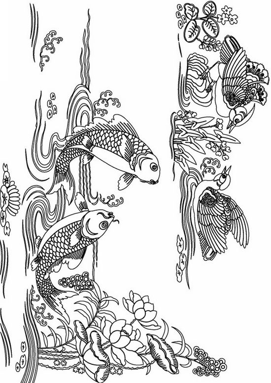 printable complicated fish coloring pages for adults advanced coloring books adult coloring pages - Fish Coloring Pages For Adults