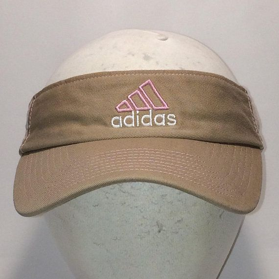 474d15b02ca Vintage Adidas Sun Visor Hats For Women Baseball Visor Cap Hat Beige Pink  Plaid Sides Lightweight Outdoor Sports Visors Hats T113 MA8158