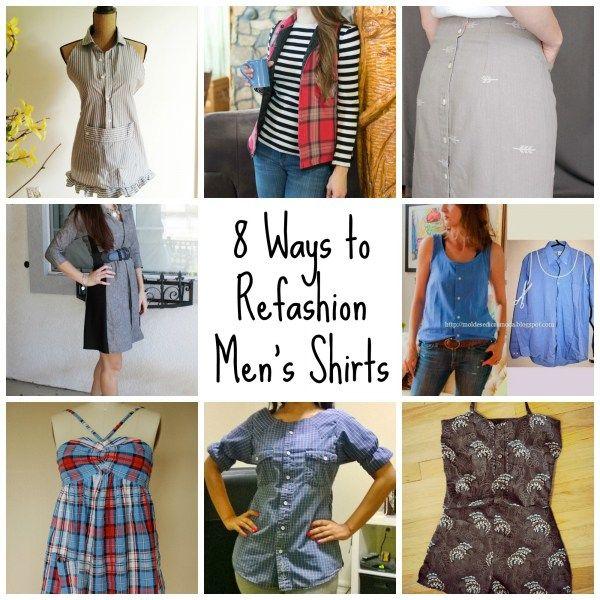 8 Ways to Refashion Men\'s Shirts | Lencería y Costura