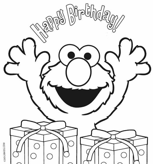 Elmo Birthday Coloring Pages | First birthday | Pinterest | Elmo ...