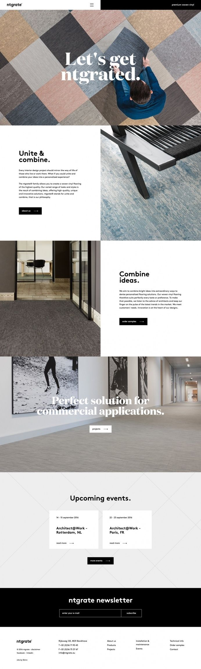 Carpentry Carpenter Webdesign Website Beautiful Modern Minimal Best Award Site Of The Day Ntgrate Awwwards Simple Web Design Web Development Design Web Design